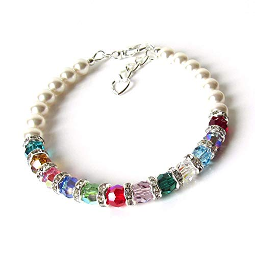 Grandmother Bracelet with up to 18 Birthstones