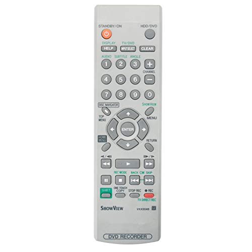 VXX3048 Telecomando di ricambio - VINABTY VXX 3048 Telecomando per Pioneer DVD Recorder DVR433H DVR433HK DVR-433H-K DVR-433H-S DVR433H-S VXX3048 Telecomando