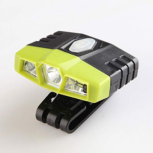 WPCBAA koplamp op de kop gemonteerde USB-inductielicht van LED-oplader, super helder, instelbaar, 90 °