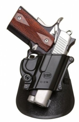 Fobus Tactical C-21B Paddle Right Hand Holster for Colt 45 Government & All 1911 Style/FN High Power/FN 49 / Kimber 4&5 inch/Sasilmaz Klinic 2000 Light/Browning Hi-Power-Black