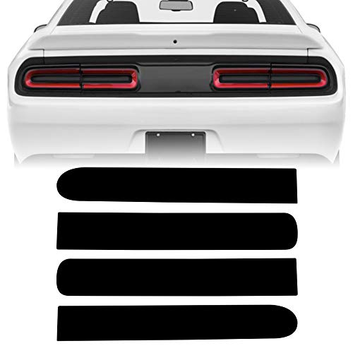 NDRUSH Vinyl Tail Light Tint Overlay Smoked Tail Lamp Wrap Compatible with Dodge Challenger 2015 2016 2017 2018 2019 2020 2021