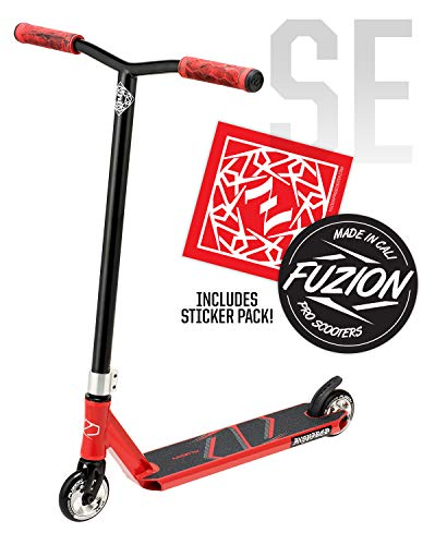 Fuzion Z250 Pro Scooters - Trick Scooter - Intermediate and Beginner Stunt Scooters for Kids 8 Years and Up, Teens and Adults – Durable Freestyle Kick Scooter for Boys and Girls (2020 SE Red)