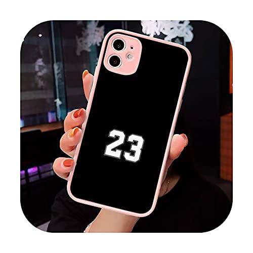 Baloncesto número 23 24 8 rojo púrpura teléfono caso mate transparente para iPhone 7 8 11 12 s Mini pro X XS XR MAX Plus cubierta funda-a2-iPhone7or8 Plus