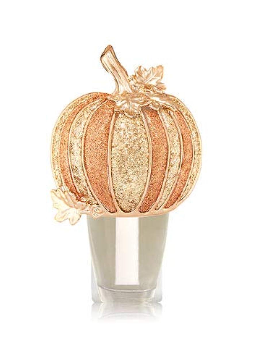 歯ミントブース【Bath&Body Works/バス&ボディワークス】 ルームフレグランス プラグインスターター (本体のみ) ハロウィン グリッターパンプキン ナイトライト Wallflowers Fragrance Plug Halloween Glitter Pumpkin Night Light [並行輸入品]