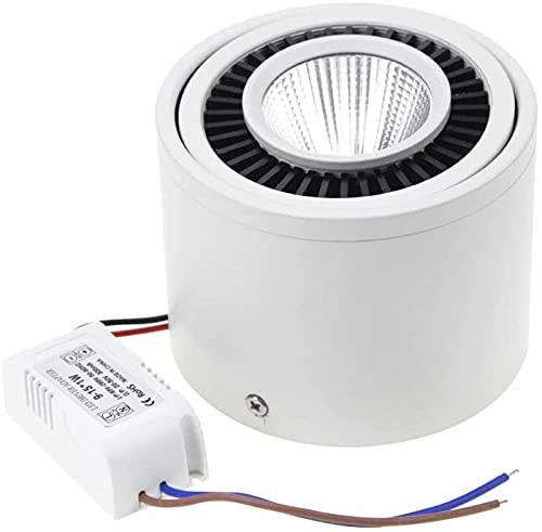 OUWTE Downlight LED Regulable montado en Superficie 360 ° Foco Giratorio 15W / 9W / 7W / 5W Lámpara de Techo de decoración de Hotel con Controlador LED