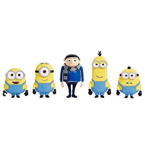 """Minions 5 Pack Figuras 4"""" Colecionáveis"""