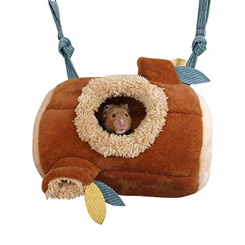 Hamster Bett, Winter Hängematte Plüsch Nest Höhle, Haustier Aufhängen Spielzeug Kuscheln Hütte, Warm Baumwolle Hamster Nest, Kleine Tier Schlafplatz Für Eichhörnchen Chinchilla Meerschweinchen Ratte