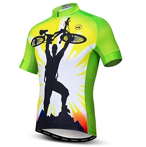 Cycling top Cycling Jersey Men Mountain Bike Jersey Pro MTB Bicycle Shirts Short Sleeve Road Tops Ropa Ciclismo Racing Clothes Black Jersey Hyococ (Color : 2, Size : Medium)