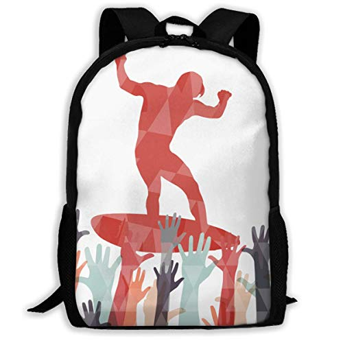Lawenp Crowd Surfing Aerial Beach Wave Gift Adult Unisex Shoulders Bag Surfing In Mexico,body Surfing