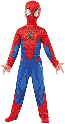 Rubie's 640840S SPIDERMAN Marvel - Disfraz infantil clásico de Spider-Man, S (3-4 años)