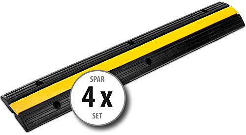 4x Pronomic Protector 1-100 Kabelbrücke 1-Kanal 100 x 15 x 3 cm +/- 1% schwarz/Signalgelb (Kanalmaß B x H: 18 x 18 mm, Befestigungsaussparungen: 6, Material: Kautschuk/Kunststoff, Gewicht: 4,1 kg)