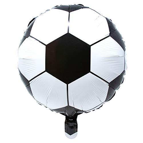 Oblique Unique® Fußball Folien Luftballon für Geburtstag Kindergeburtstag Feier Mottoparty Deko Ballon Folienballon WM Weltmeisterschaft Party