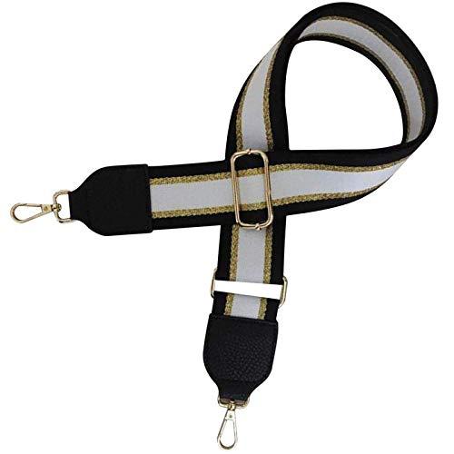 XINTUON Correa de hombro con 2 mosquetones de repuesto para cinturón con ganchos, color negro