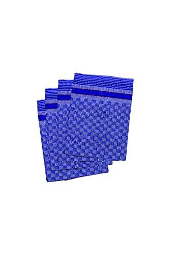 10 x Grubentuch / Geschirrtuch blau karriert, bis 95 Grad waschbar
