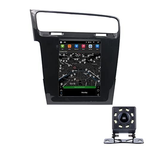 LWYJ Android 10.0 Coche Radio Estéreo para Volkswagen Golf 7 Pantalla Táctil De 10 Pulgadas GPS Navegación WiFi Bluetooth USB Soporte Am FM SWC con Camara Trasera,1+16G