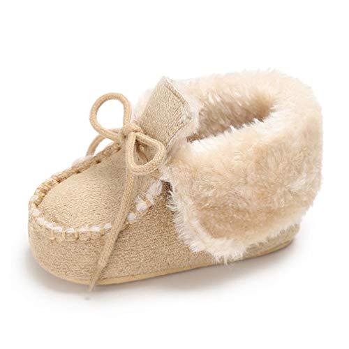 HOMEBABY Baby Keep Warm Zachte Zool wieg Schoenen Anti-slip Peuter Knop Platte Katoenen Laarzen Eerste Wandelschoenen