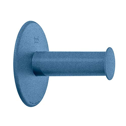 Koziol WC-Rollenhalter Plug N Roll, Toilettenpapierhalter, WC-Rollen-Halter, Thermoplastischer Kunststoff, Organic Deep Blue, 5235675