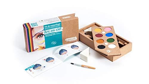 Namaki - Maquillage enfants Bio, Kit 8 Couleurs Arc-en-Ciel