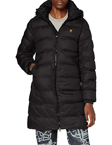G-STAR RAW Damen Jacket Whistler hdd slim long coat Wmn, Dk Black B958-6484, X-Large