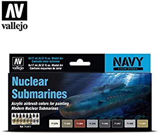 Vallejo 71611 Model Air Nuclear Submarines 8 Colour Acrylic Airbrush Paint Set