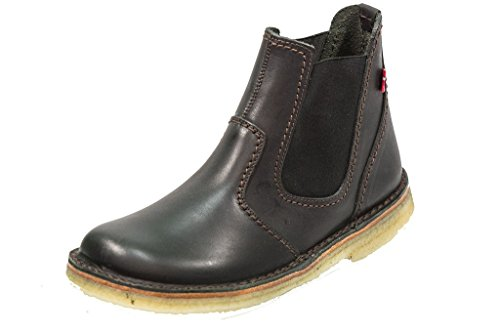 Duckfeet Roskilde Unisex Leather Chelsea Boot - Black - 44 M EU