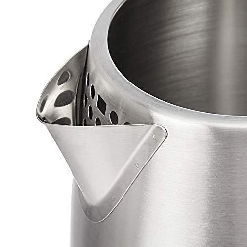 AmazonBasics Stainless Steel Electric Kettle - 1.7 Litre (2200 Watt)