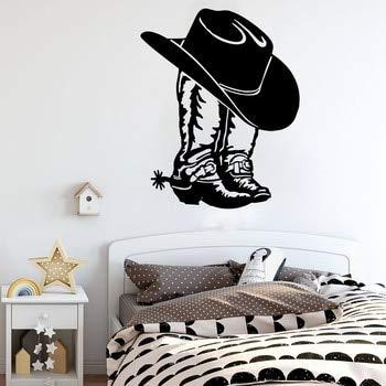 Aufkleber Cowboy Cowgirl Boot & Hut Westernschuh Auto Laptop Wand Aufkleber Cowgirl Boot Vinyl Decor