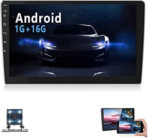 10.1 '' HD Touchscreen Doppio Din Autoradio Android Supporta Bluetooth, Autoradio con telecamera per retromarcia, Sistema di navigazione, WIFI, Mirror Link, SWC, DVR, Lettore MP5 con FM/AM/USB