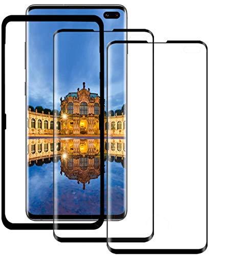 YMZZ S10 Plus Panzerglas [2 Pack] 3D gebogenes gehärtetes Glas/Vollständige Abdeckung/Blasenfrei/Kratzfest Schutzfilm Bildschirmschutz für Samsung Galaxy S10 Plus