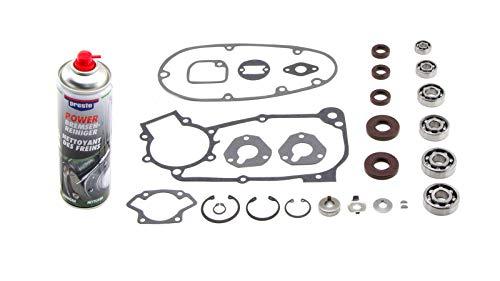 Lagersatz: Wellendichtringe, Kugellager, Dichtungssatz passend für Simson* KR51/1, SR4-2, SR4-3, SR4-4 Plus Motorenreiniger