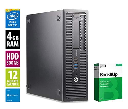 HP EliteDesk 800 G1 SFF | Office PC | Computer | Intel Core i3-4150 @ 3,5 GHz | 4GB RAM | 500GB HDD | DVD-Brenner | Windows 10 Home (Zertifiziert und Generalüberholt)