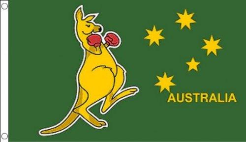 AZ FLAG Drapeau Boxing Kangourou 250x150cm - Grand Drapeau Boxing Kangaroo - Australie 150 x 250 cm