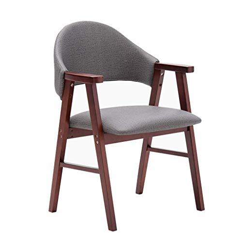 ZHAOJYZ eetkamerstoel grijze stof eettafel kruk met stoel zeer elastische spons geschikt voor Office Lounge Dining Kitchen