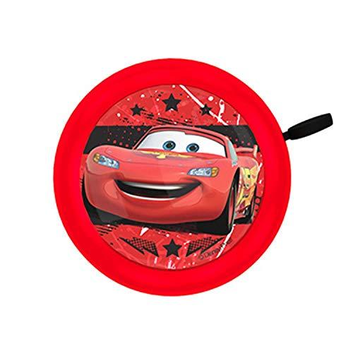 Disney Cars Timbre para Bicicleta, Niños, Rojo, Durchmesser 55mm