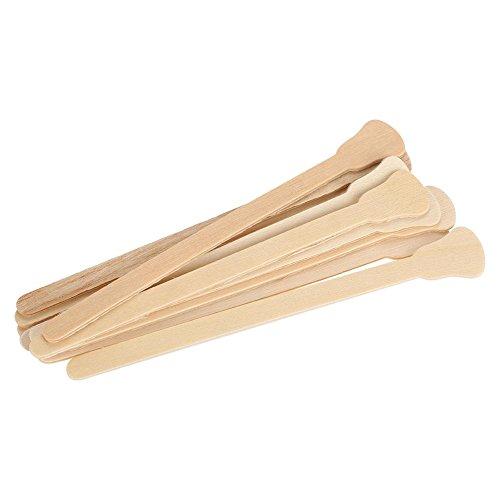 10pcs bâtons de cire en bois cire spatule abaisse-langue masque facial jetable cheveux supprimer crème applicateur