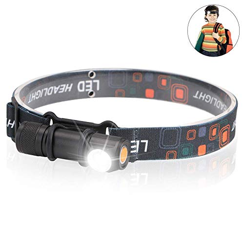 Lampe Frontale Robuste Phare étanche LED lumière extérieure avec Mise au Point Fixe et Mise au Point Fixe Lampe de Poche Phare USB intégré avec Aimant