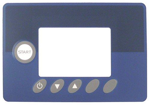 Toetsenbord folie voor vaatwasser Dihr LP3S-PLUS, LP2S-PLUS, LP4S8-PLUS, Kromo GR800 voor vaatwasser 6 toetsen breedte 135 mm blauw