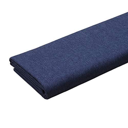 Donkerblauw Denim stof Elasticiteit Wassen Katoen Maak Shirt Jurk Medium dik Jeans Denim tas Stof (Size : 1.4m X 5m)