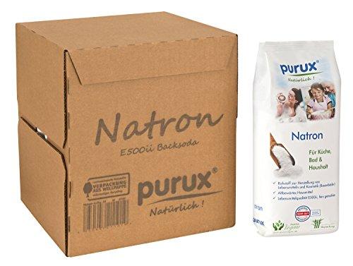 Purux Natron 3 kg Natriumhydrogencarbonat NaHCO3 Natriumbicarbonat E500 ii Backsoda