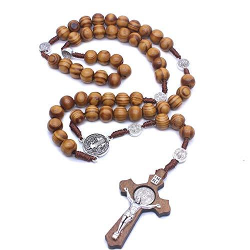 Casecover Rosario De Madera Jesucristo Crucifijo Grande Colg
