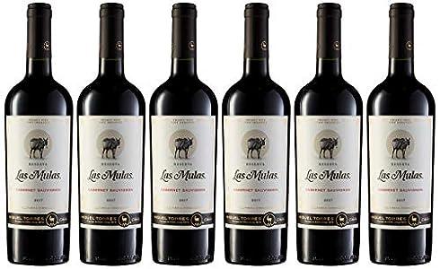Las Mulas Cabernet Sauvignon, Vino Tinto - 6 botellas de 75 cl, Total: 4500 ml