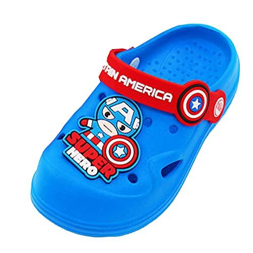 MODRYER Zuecos para Niños Niños Niñas Sandalias de Agua Mulas Antideslizantes Zapatillas de Playa Descalzas Piscina de Natación Surf Zapatos de Atletismo, Captain America A-20