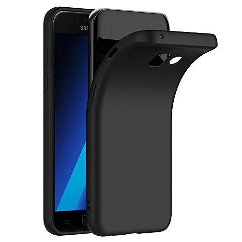 COPHONE Cover per Samsung Galaxy A3 2017 A320 Cover Nero Silicone Case Galaxy A3 2017 Molle di TPU Sottile Custodia per Galaxy A3 2017