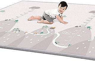 ベビープレイマット ベビーマット 折り畳み式 防水 衝撃緩和 かわいいラグマット XPE素材 安全無毒 滑り止め 両面使用 新生児から対象 200*180*1cm