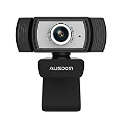 【1080P Full HD Webcam】This PC Camera with 2 Megapixel CMOS features up to 1920x1080p 30fps transmission rate. You can easily enjoy Full HD 1080p Video Calling and Recording with your family, friends, clients and colleagues at home. 【Built in Noise-Ca...