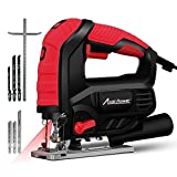 Jigsaw, AVID POWER 3000 SPM Jig Saw with Variable Speed, Bevel Angle (0°-45°), 6PCS Blades and Scale Ruler (7.0A Jig Saw)