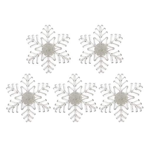 PIXNOR 5Pcs Luces de Copo de Nieve con Ventosa Led Decoración de...