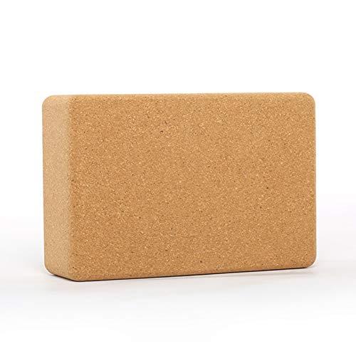 HCMNME, Yoga Natural Cork Bloque 1 PC o 2 Piezas Set, Pilates Equilibrio y flexibilidad, Antideslizante Yoga ladrillo meditación Aptitud del Ejercicio de Pilates (Size : 1 Pack)