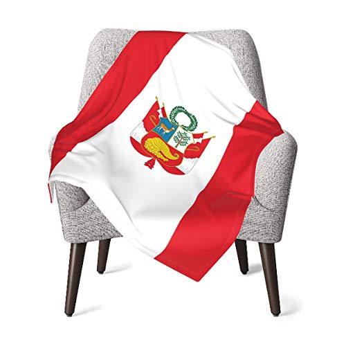 MDFE - Manta suave y cálida para bebé, diseño de bandera peruana