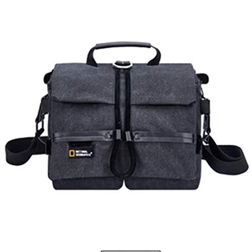 YXMYMM Gadget Shoulder Bag DSLR Camera Canvas Bag Waterproof con Funda de Lluvia para Mujeres Hombres Small Camera Bag,Black-OneSize